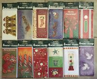 Pack Of 6 Christmas Holiday Money Holders Greeting Cards -12 Styles- Your Choice