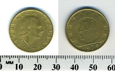 Italy 1979 - 200 Lire Aluminum-Bronze Coin - Value within gear