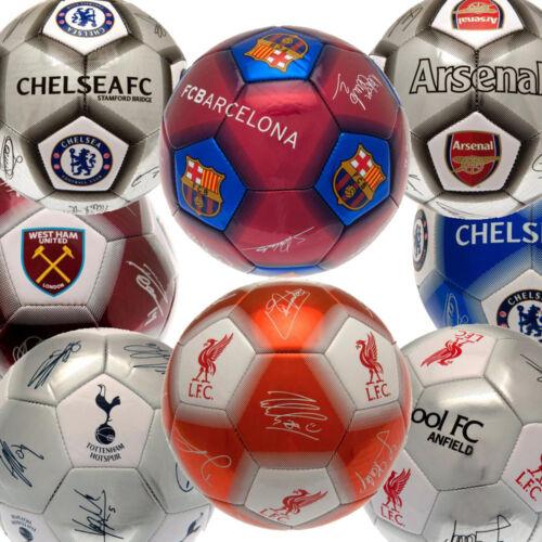 Official Premier League Football Club Team Ball With Signatures Souvenir Signed