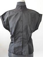 schwarze Vintage Bluse orig. 50er Jahre ca. Gr.S