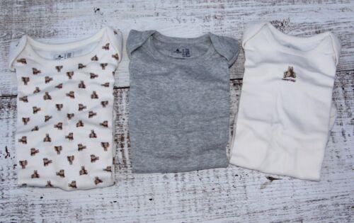 Baby GAP Girls Boys 0-3-6-12 Mo NEW Short Sleeve 3Pc Bodysuit Cream White Gray