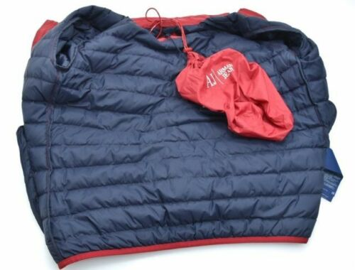 Jacket P £169 Jeans Rrp Xl Bnwt Packable 99 amp;p Aj Free Red With Armani Bag Down wX6Pqg1