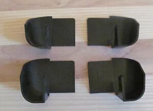 4 Pieces Black Rail Plastic Drip Spouts For Aluminum