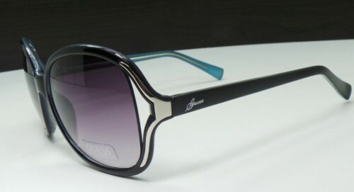 NEW GUESS GUF 228 BLK-35A Black Womens SUNGLASSES w//Guess Hard Case Authentic