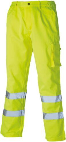 degli uomini del commercio resistente varie dimensioni Dickies Hi-Vis Pantaloni da lavoro in cotone e poliestere