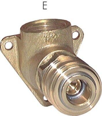 Druckluftwanddose mit Kupplung NW 7,2 und Anschluß IG 1/2