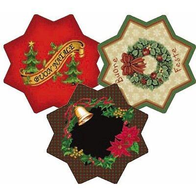 Natale Tappeto Natalizio Christmas a forma di  Stella D.100 cm