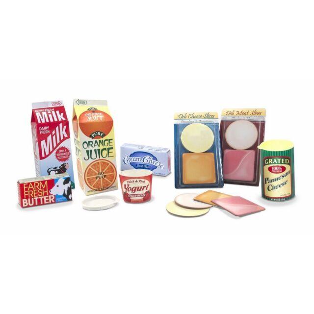 Play Food Fridge Groceries Milk Bolonga Cheese Butter Melissa Doug 4316 For Sale Online Ebay