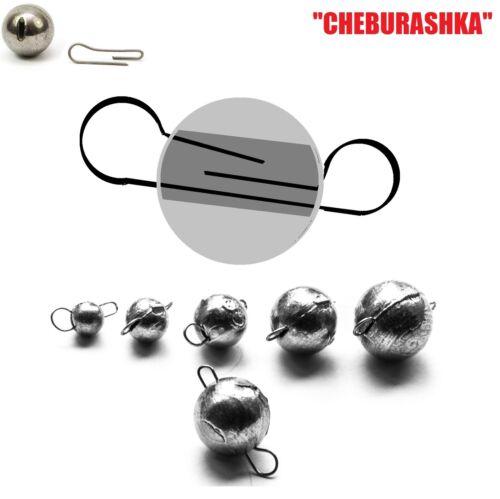 FLEXI JIG HEAD BALL Sinker 5pcs CHEBURASHKA Dropshot soft lures fishing shad