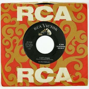 ELVIS-PRESLEY-I-Got-Stung-One-Night-7IN-1958-ROCK-VG-VG