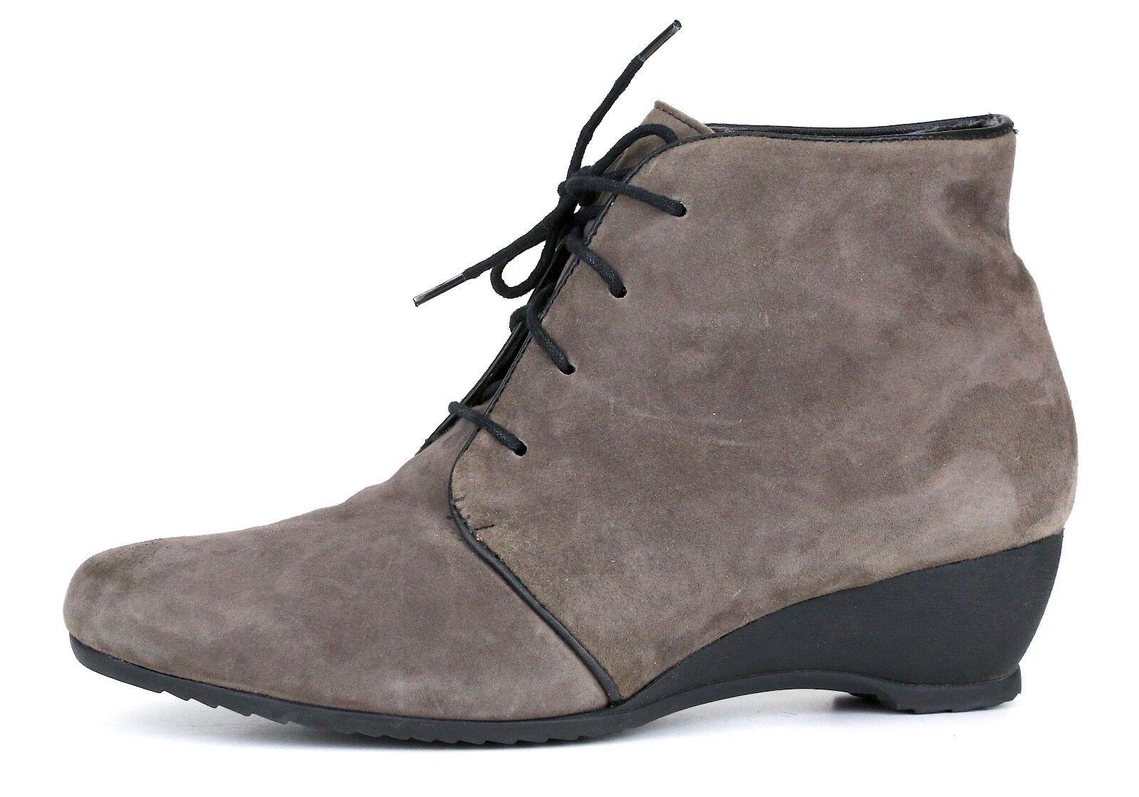 Munro Kara Suede Bootie Grey Donna Sz 6.5 W 5156 *