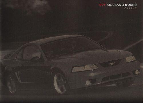 2000 Ford SVT Mustang Cobra Deluxe 18-Page Dealer Sales Brochure Mint!