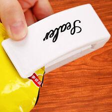 Bolsa de Plástico Sellador de Vacío reselle portátil sellado máquina Food Saver práctico Clips