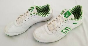 meilleures baskets 64845 43f1a Details about Women Sz 9B White Green New Balance 474 Leather Synthetic  Running Shoes preowned