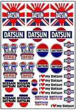 1/64, 1/87 - DECALS FOR HOT WHEELS, MATCHBOX, SLOT CAR: DATSUN