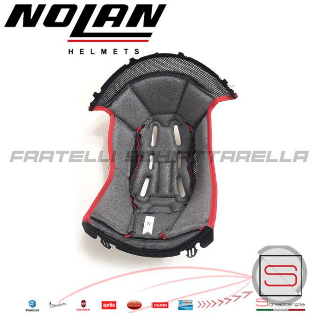 ABSOLUTE Black-Red L Interno Casco Imbottitura Cuffia NOLAN N104 EVO TG