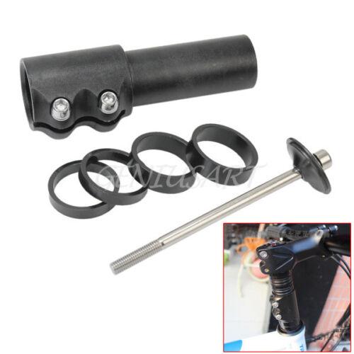 Bike Bicycle Head Up Fork Handlebar Stem Riser Extender Extension Adaptor Black