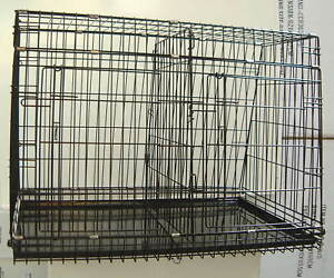 Sloping-Double-Car-Crate-Cage-with-Divider-amp-Doors-93x63x67cm