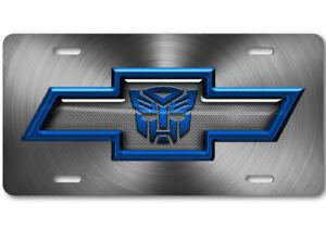 Transformers Blue Aluminum Novelty Car Auto License Plate