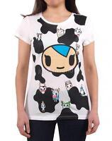 Women Tokidoki Moo Moo Tee Anime Tee T-shirt Top Cute Licensed Cow Japanese