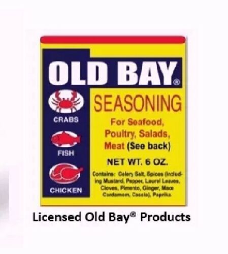 Old Bay Crab Cakes Recipe Kitchen Towels NEW set of 2