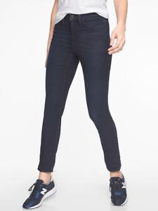 ATHLETA Sculptek Skinny Jean Overdye Wash SZ 8 (M MEDIUM)   Dark Stretch Jeans