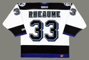 MANON RHEAUME Tampa Bay Lightning 1992 CCM Throwback Home NHL Hockey ... 8e296135f5e