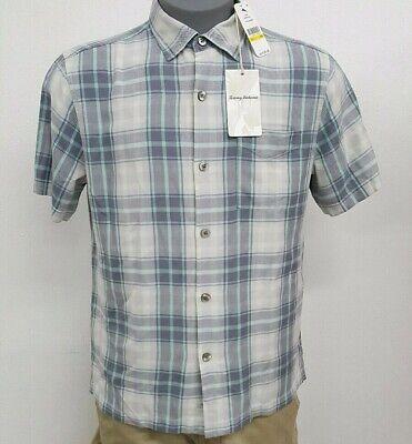 Tommy Bahama Zamora Plaid Bala Shark Grey S//S Men/'s Shirt NWT $115 Choose Size