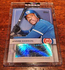 """ANDRE """"HAWK"""" DAWSON AUTO SP #HOF 2009 TOPPS REDEMPTION AUTOGRAPH CHICAGO CUBS!"""