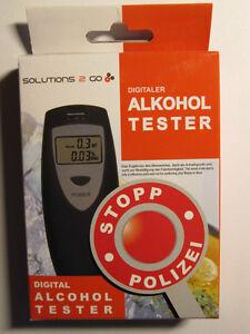 "Numérique alcool testeur ""Solutions 2 Go"", made in Germany, CE de marque  </span>"
