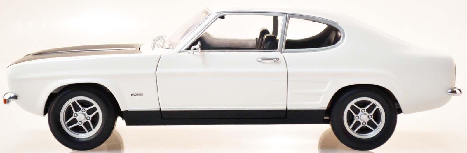 MINICHAMPS 150089078 Ford Capri I RS 2600 - 1970 Blanc Noir 1 18 Nouveau Neuf dans sa boîte