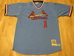 check out fb71e 622a6 Details about vtg Mitchell and Ness 1982 ST. LOUIS CARDINALS #1 OZZIE SMITH  JERSEY 54 USA