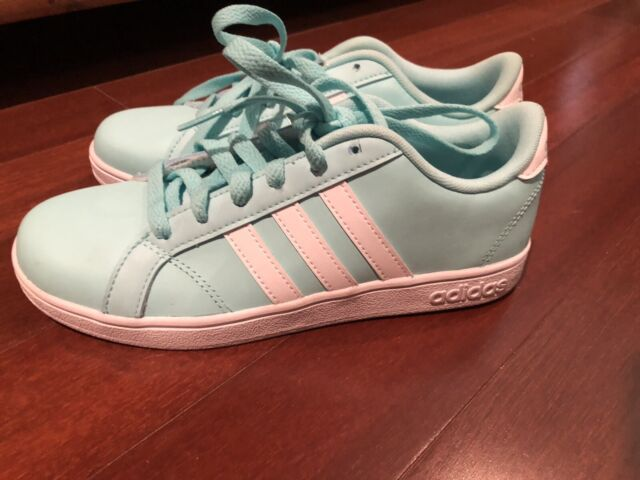 adidas Neo Baseline Sneaker Shoes Youth Kids 4 AC7684 Tiffany Blue