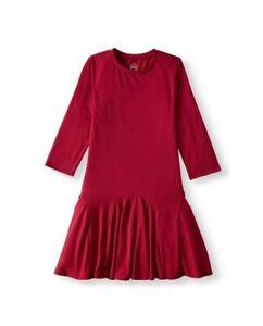 NEW 10-12 Wonder Nation Girls Blue Cove Velvet Long Sleeve Shirt Size L