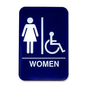 Image Is Loading Women 039 S Amp Handicap Accessible Restroom Sign