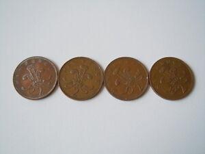 4 X Münze 2 New Pence Großbritannien 3 X 19711 X 1980 Gewicht