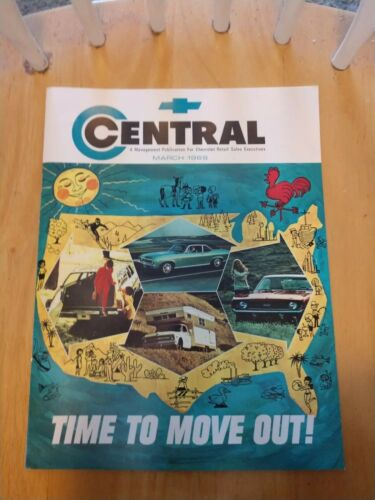 Chevrolet Central Sales Communication March 1969 Chevy 69 Magazine Monthly