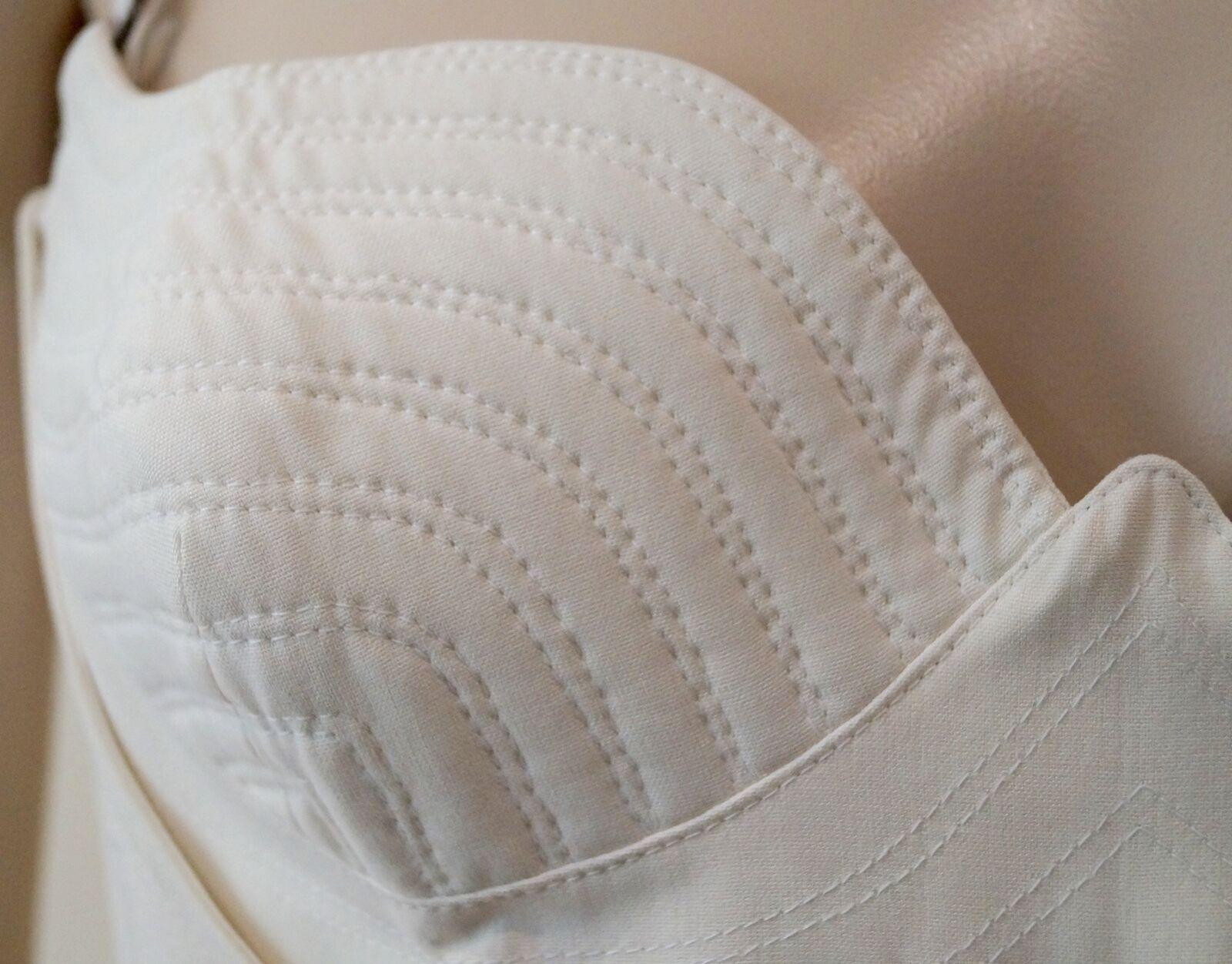 GIANNI VERSACE Cream Silk Silk Silk Branded Hardware Evening Corset & Skirt Suit I44 UK12 5751af