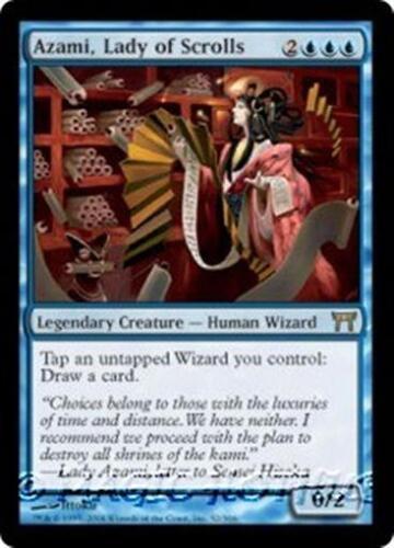 LADY OF SCROLLS Champions of Kamigawa MTG Blue Creature—Human Wizard RARE AZAMI