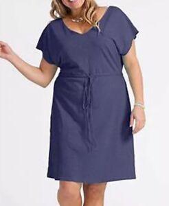 e4eb10adadd58 Fresh Produce Bistro Plus Size 1X Moonlight Blue Dress Empire Waist ...