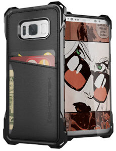 Galaxy-S8-Wallet-Case-Ghostek-EXEC-Shockproof-Card-Pocket-Screen-Protector
