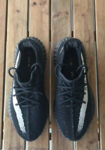 Details about Adidas Yeezy 350 Spy Black Sneakers Size 9.5