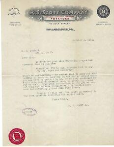 Details about 1912 P S Scott Philadelphia Pennsylvania Letters to H E   Goodell Irving New York