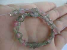 "Handcut Afghan Watermelon tourmaline slice beads 5.5-8mm approx. 7"" strand"