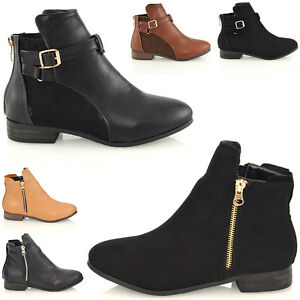 WOMEN LADIES ANKLE MID HEEL CUT OUT LACE UP BUCKLES ANKLE BOOTS SIZE 3-8