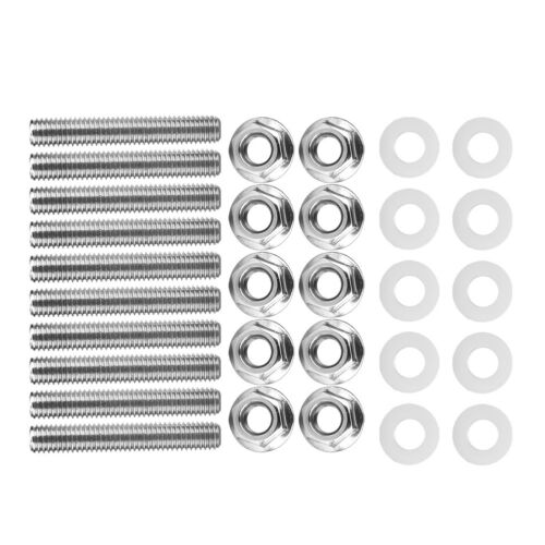 10 Set Stainless Steel Exhaust Manifold Stud Bolt Nut Kit Fit for Honda Acura