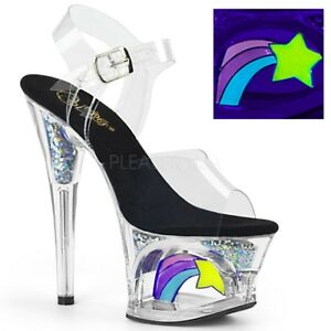 Moon Sandals Platform Pleaser Transparent 708rss E5qwxx48f