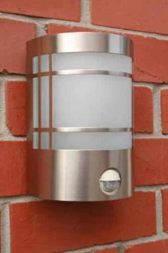 Edelstahl Außenleuchte Wandlampe Sensorleuchte mit Bewegungsmelder Stockholm