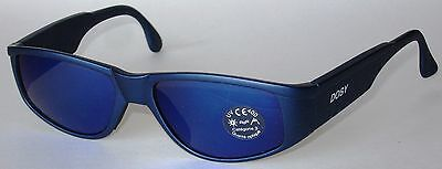 Occhiali Da Sci, Alta Montagna, Ciclismo, Blu, Lenti A Specchio Blu, Protez. Uva