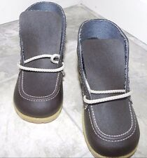 New Brown  Faux Leather Childrens' Work Laced Boots Size 7 Eur 23.5